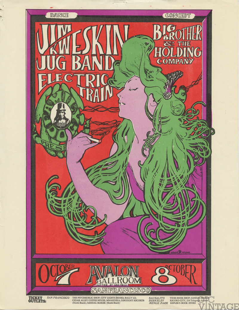 Family Dog  29 Handbill The Woman with the Green Hair 1966 Oct 7 Big Brother & Holding Co