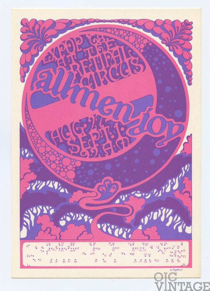 Retinal Circus Postcard 1968 Aug 27 Allmen Joy Vancouver Canada