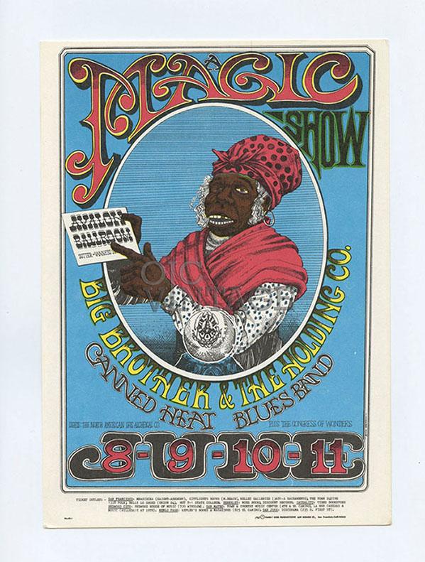 Family Dog 065 Postcard Aunt Jemina or Magic Show 1967 Jul 8 Otis Rush The Mothers