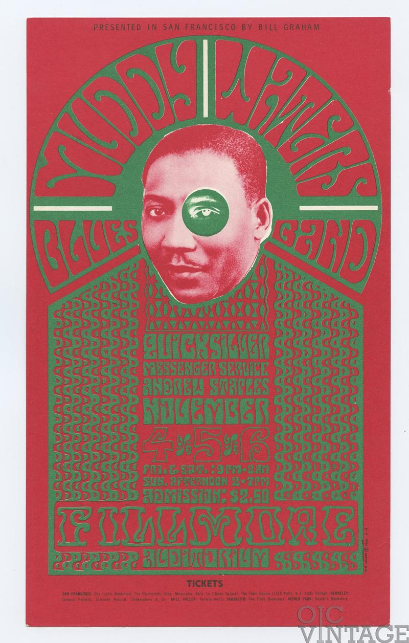 Bill Graham 035 Handbill Muddy Waters Blues Quicksilver Messenger 1966 Nov 4