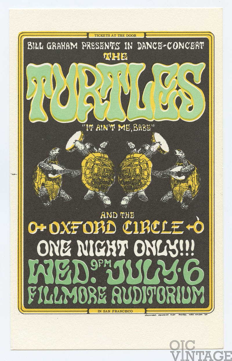 Bill Graham 015 Postcard Turtles Oxford Circle 1966 Jul 6