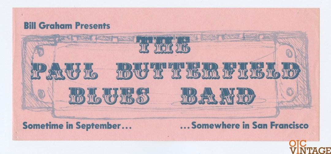 Bill Graham 029 Handbill 1966 Sep 23 The Paul Butterfield Blues Band
