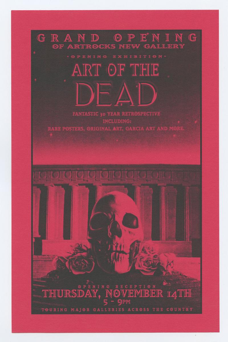 Grateful Dead Flyer Robert Thomas Art of Dead Exhibition 1996 Nov 14 ARTROCK Gallery