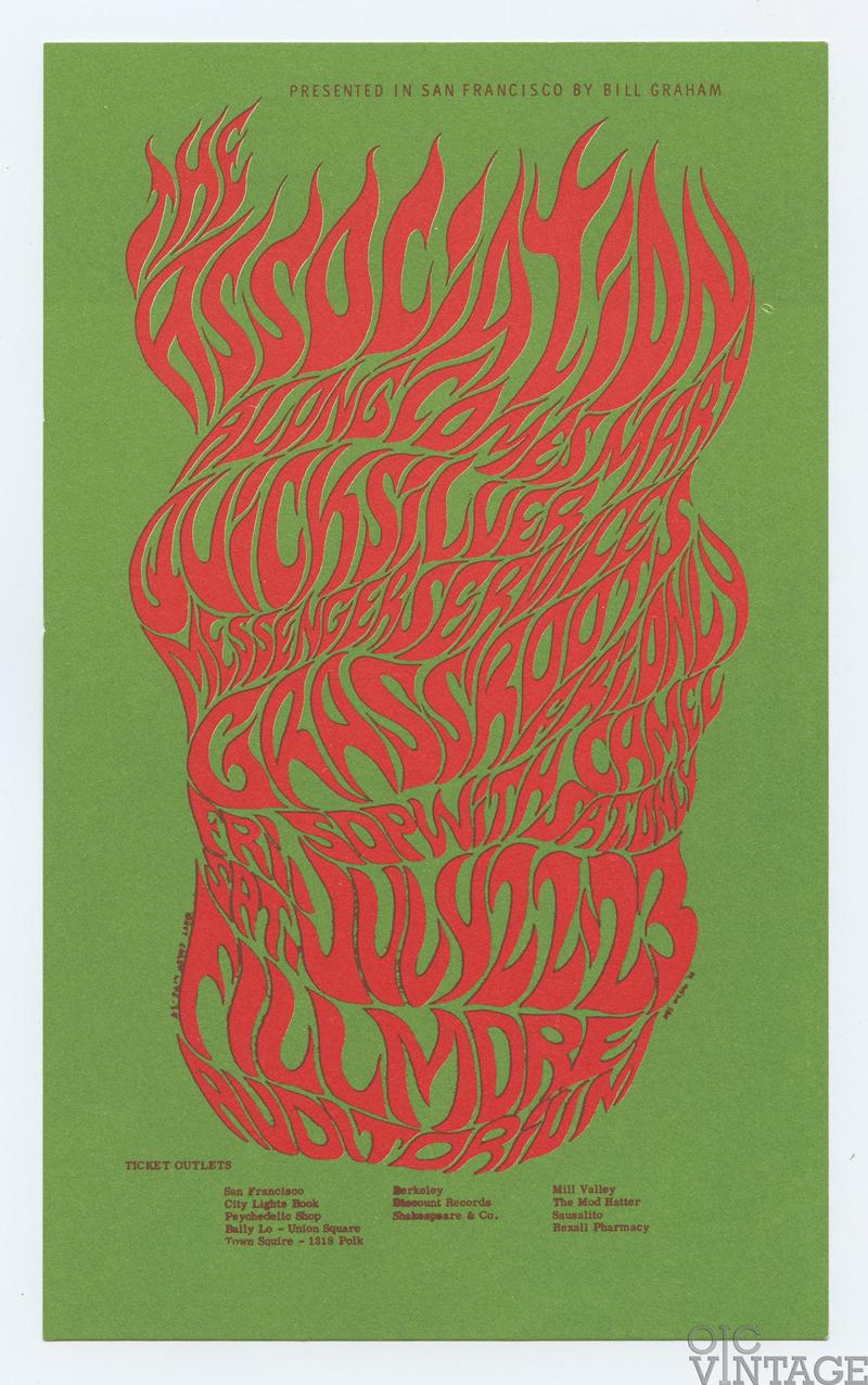 Bill Graham 018 Postcard Qiucksilver Messenger Service Grass Roots 1966 Jul 22