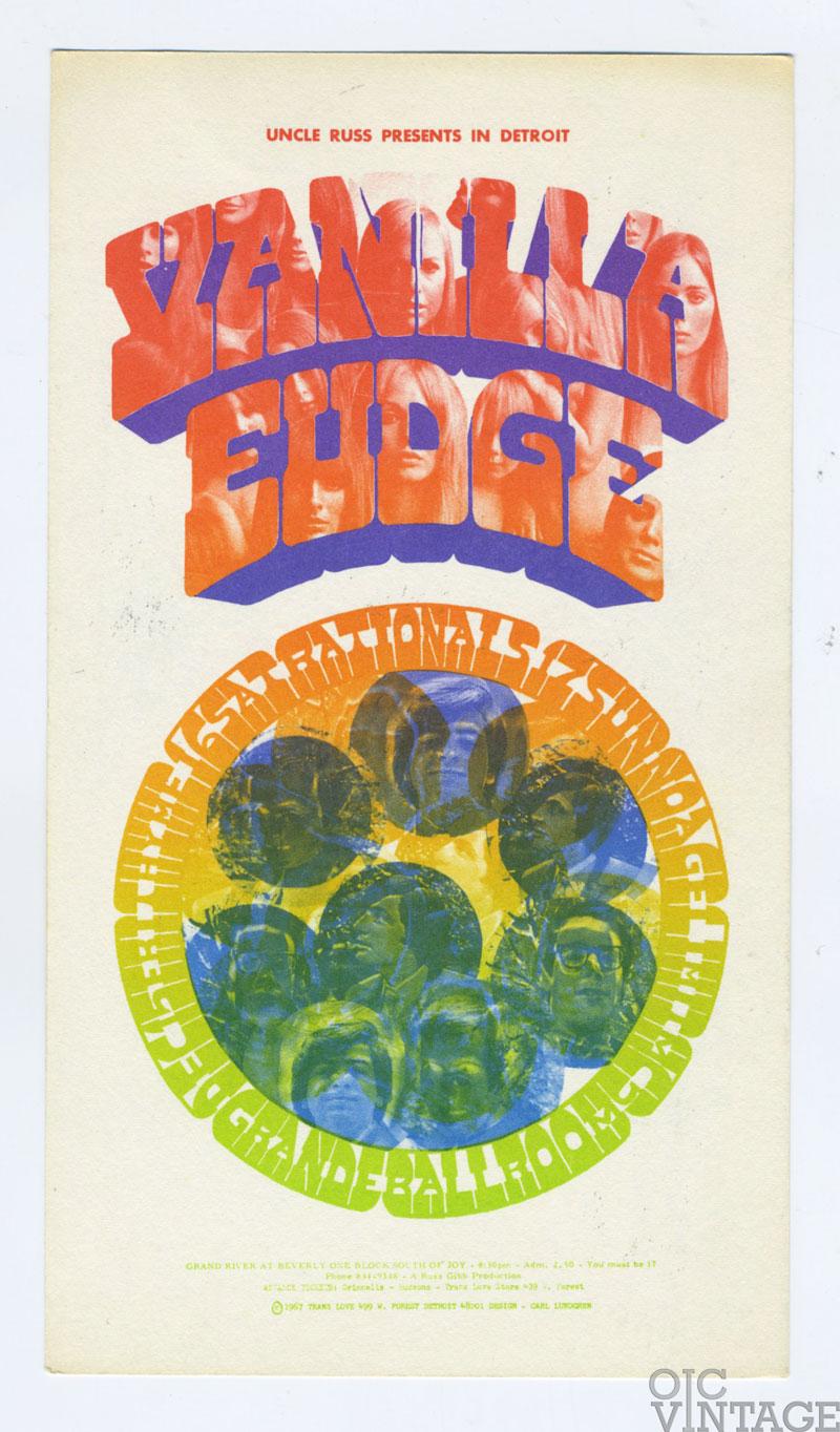 Grande Ballroom Postcard 1967 Dec 15 Vanilla Fudge MC5