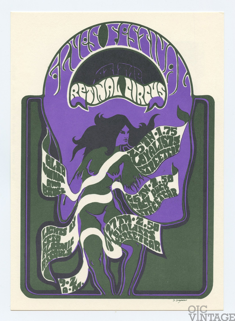 Retinal Circus Postcard 1968 Apr 25 The Loyalists Vancouver Canada