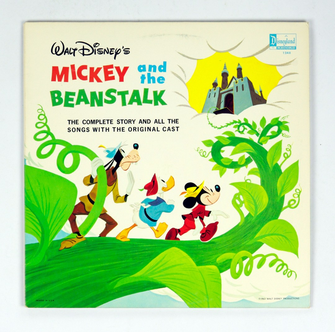 Walt Disney Mickey And The Beanstalk Vinyl LP Complete Story and Songs 1963