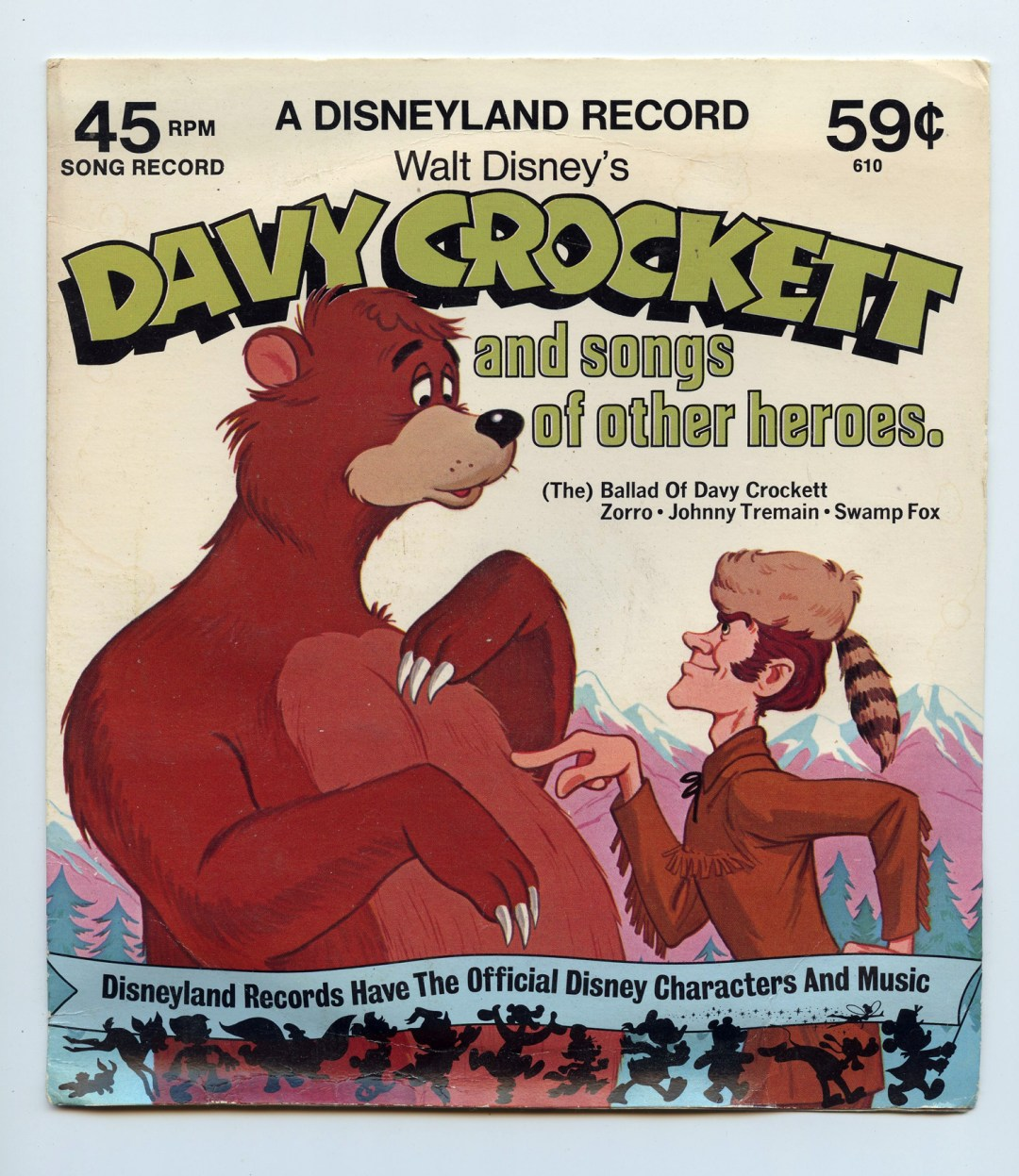 Walt Disney Davy Crockett And Songs Of Other Heros Vinyl Singles 7
