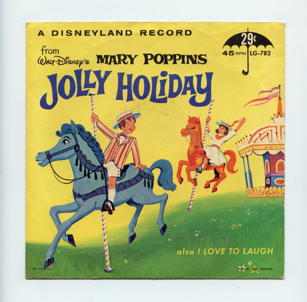 Walt Disney Mary Poppins Jolly Holiday Vinyl Singles 7