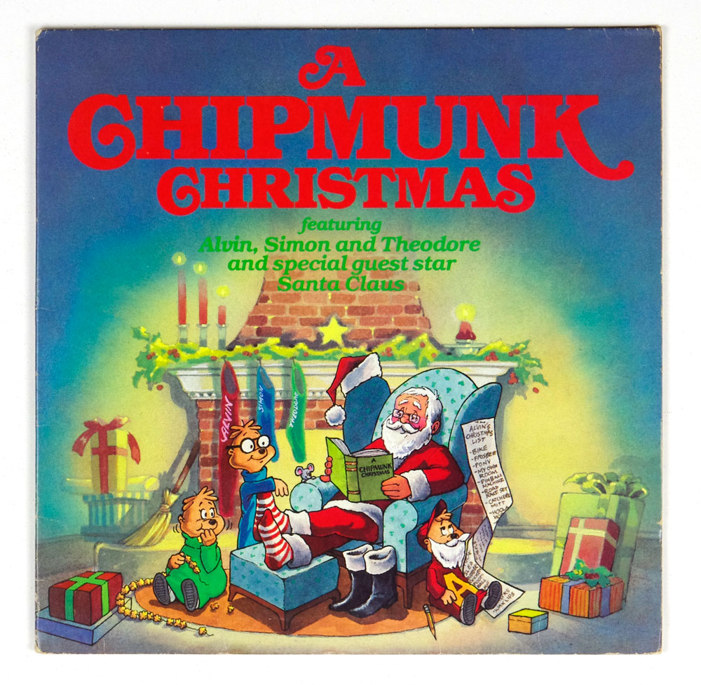 A Chipmunk Christmas Vinyl LP 1981 Alvin & The Chipmunks