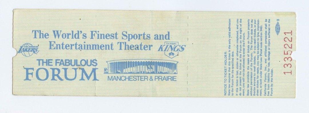 Billy Joel Ticket 1978 Oct 30 Fabulous Forum Unused