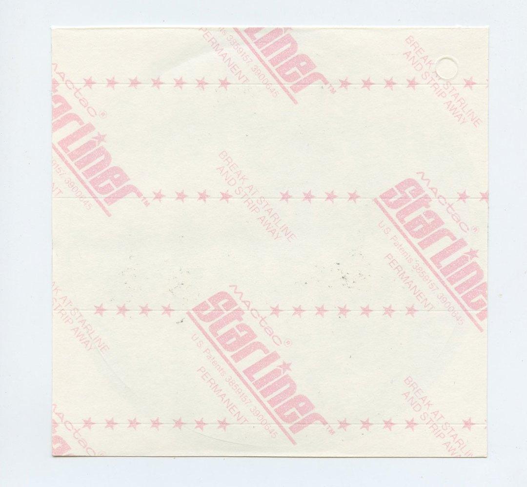 "Bob Seger Sticker 1984 Vintage 4 3/8"" Diameter"