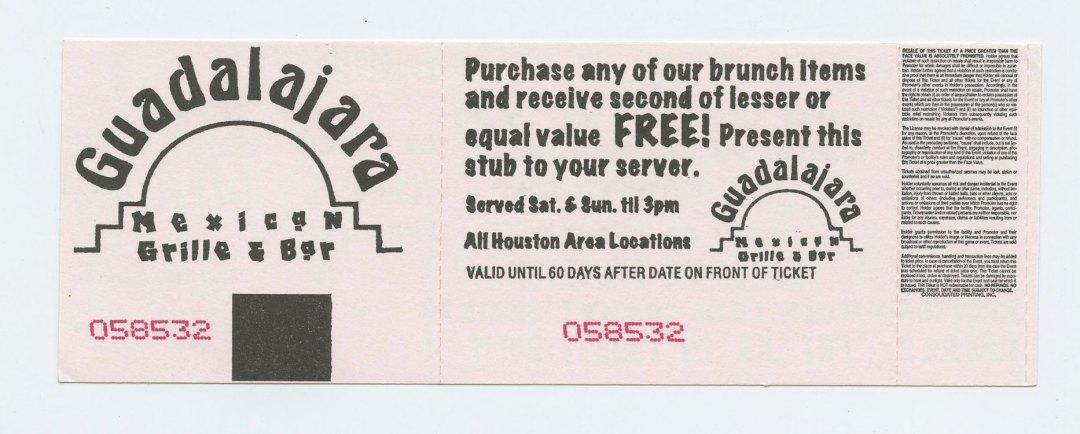 Allman Brothers Band Ticket 1999 Jul 23 Woodlands Pavilion TX Unused
