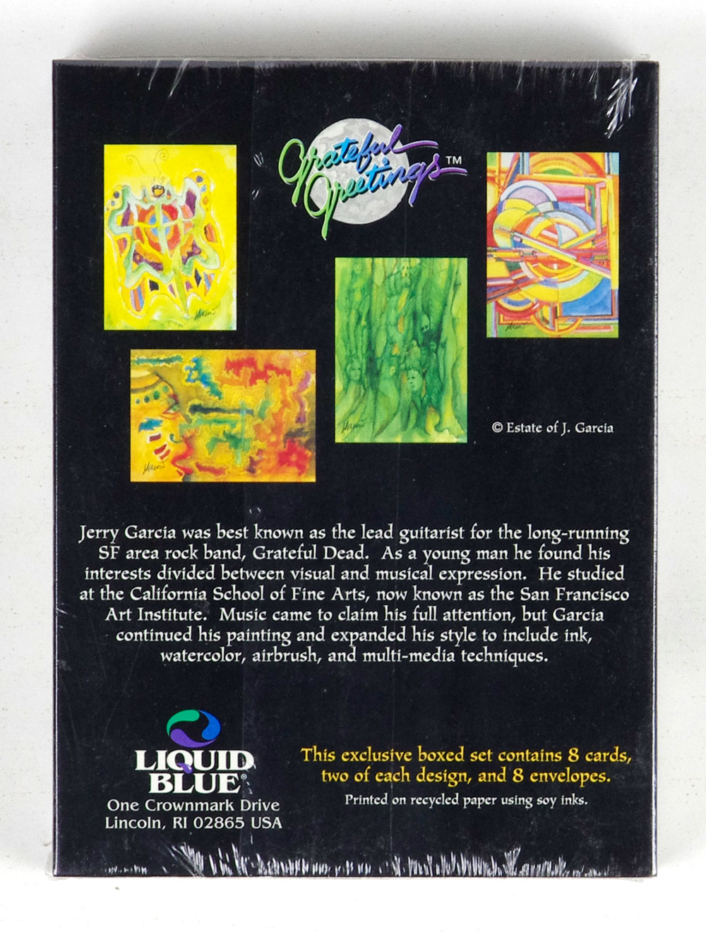 Jerry Garcia Postcard set of 8 Butterfly Note Box Sealed NEW