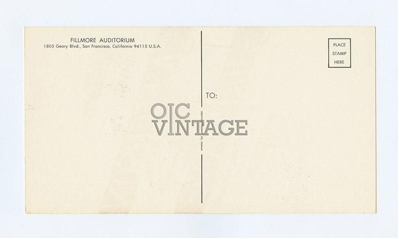 Bill Graham 001 Postcard Jefferson Airplane 1966 Feb 4