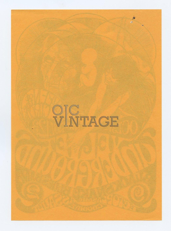 Retinal Circus Handbill 1968 Oct 31 Velvet Underground Vancouver Canada