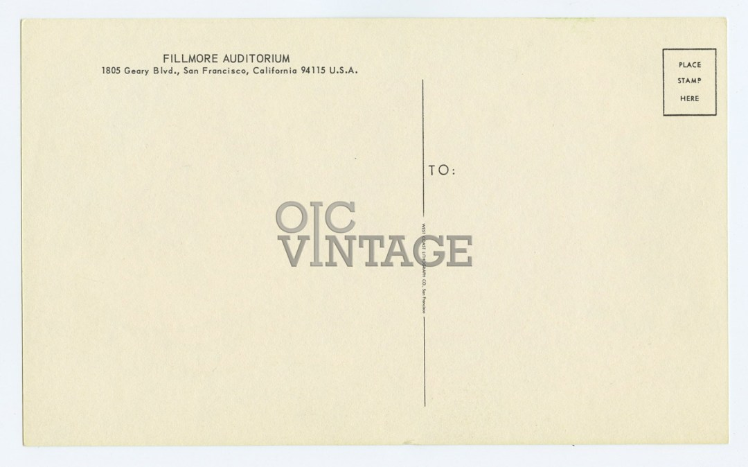 Bill Graham 018 Postcard Qiucksilver Messenger Service Grass Roots 1966 Jul 22