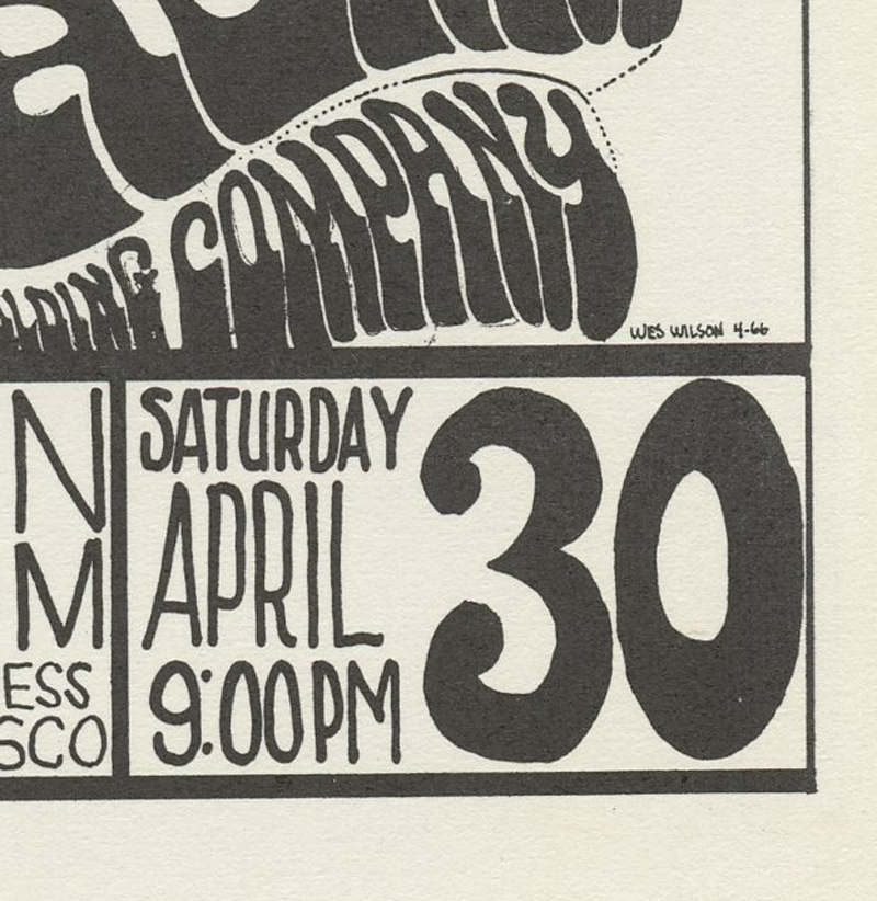 Family Dog 006 Handbill Sin Dance 1966 Apr 2 Big Brother and the Holding Co Grass Roots