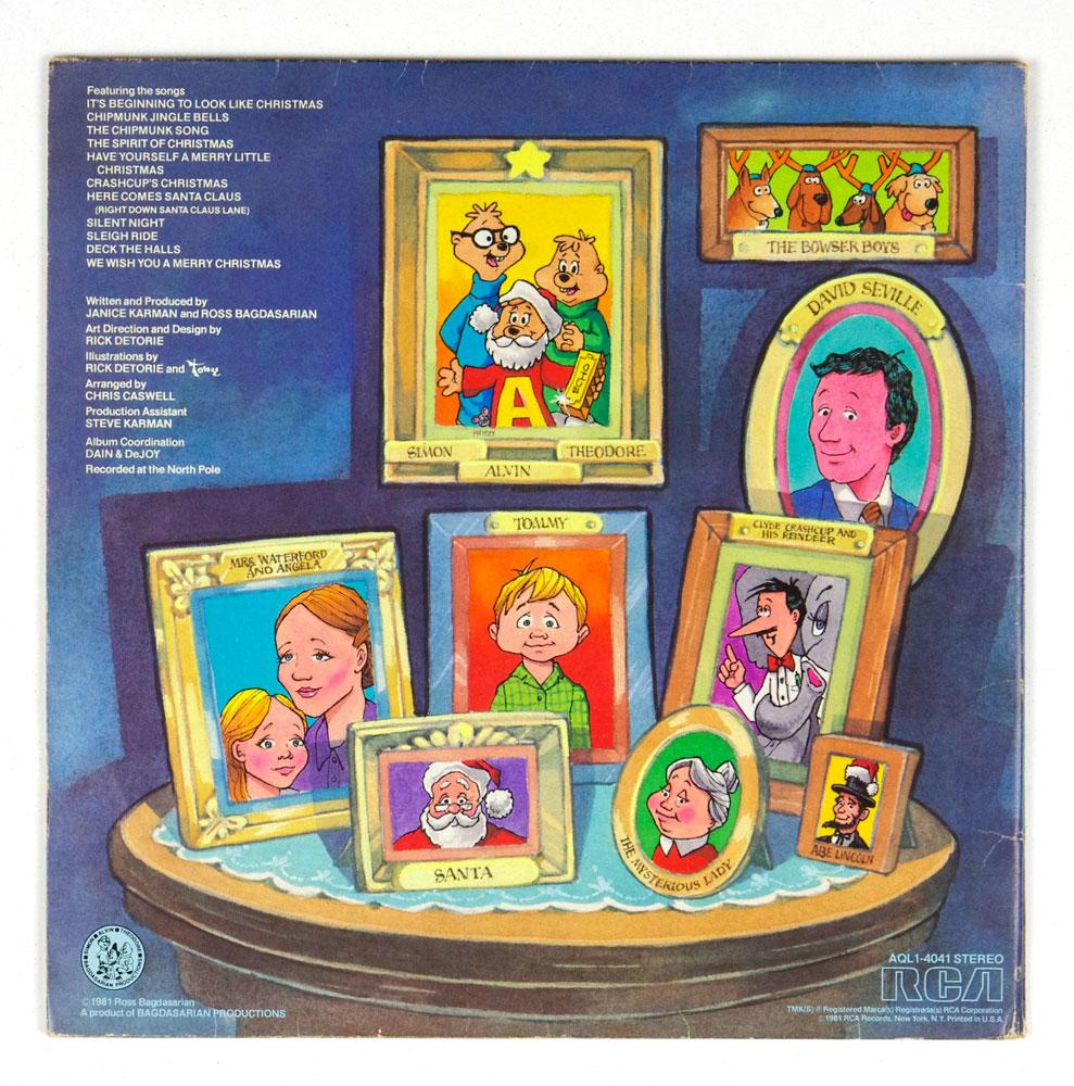 A Chipmunk Christmas Vinyl LP 1981 Alvin & The Chipmunks