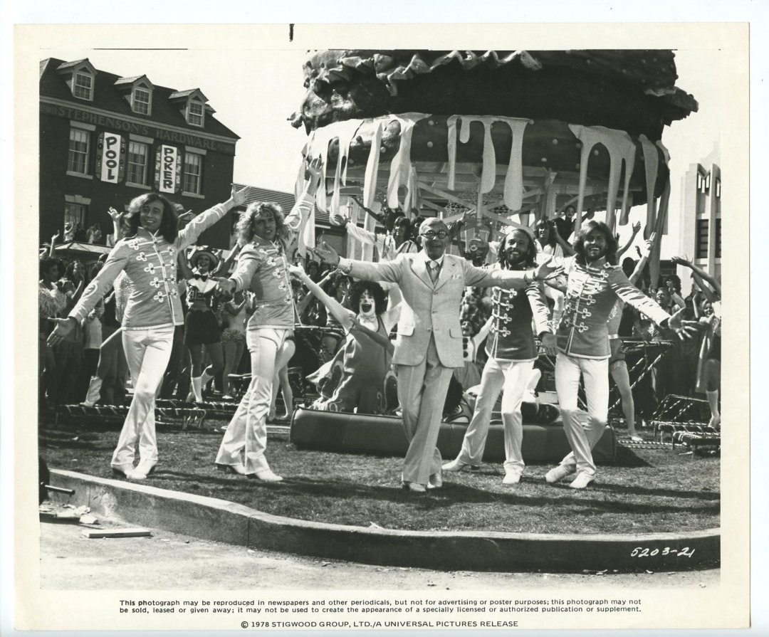 George Burns Bee Gees 1978 Sgt. Pepper's Lonely Hearts Club Band  8x10 Lobby Card