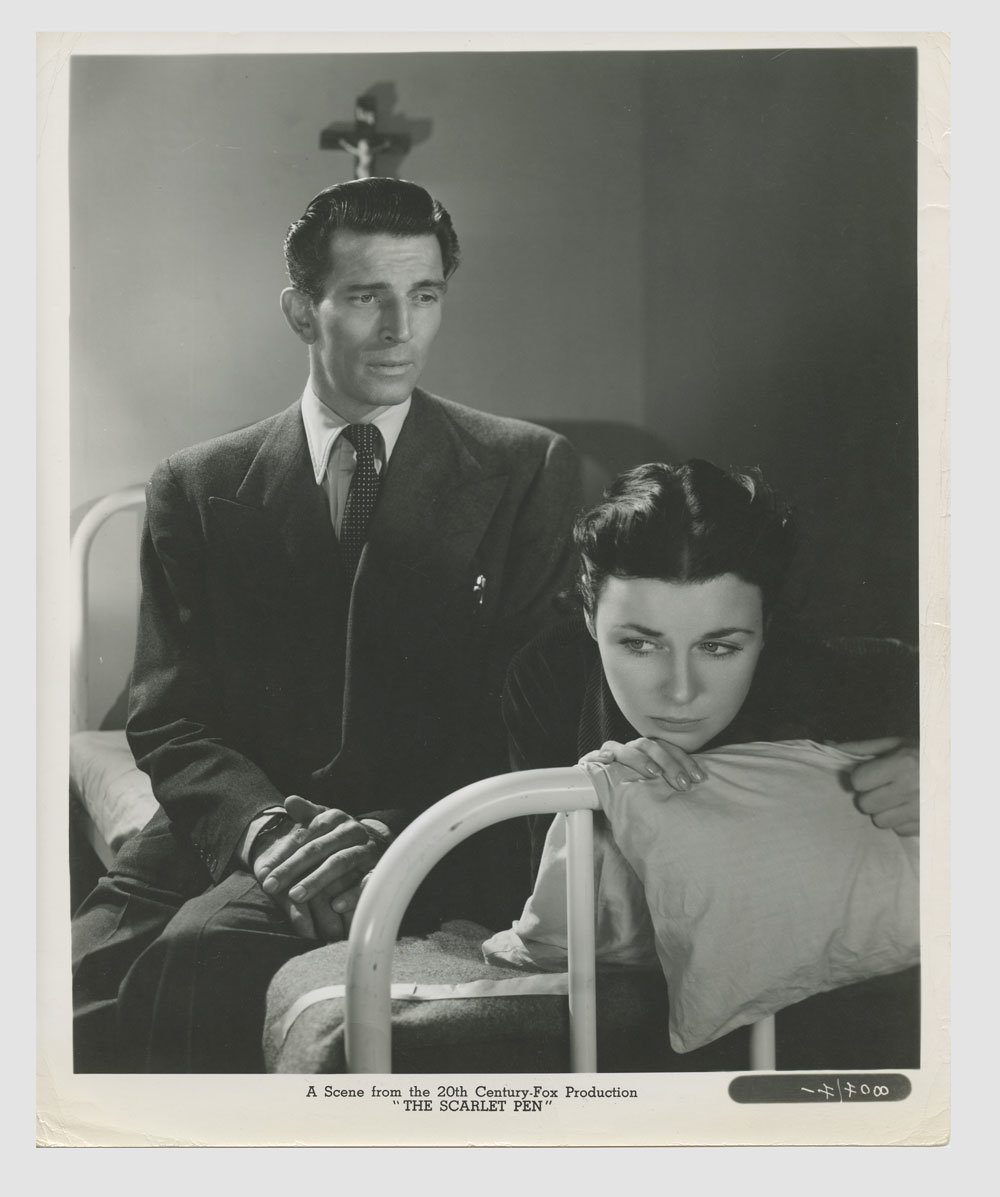 Michael Rennie Constance Smith 1951 The 13th Letter Lobby Card