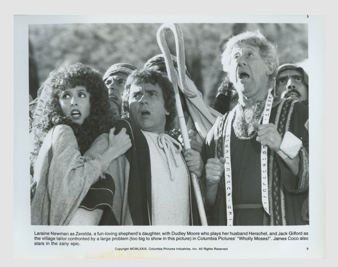 Dudley Moore Laraine Newman 1980 Wholly Moses!  Lobby Card