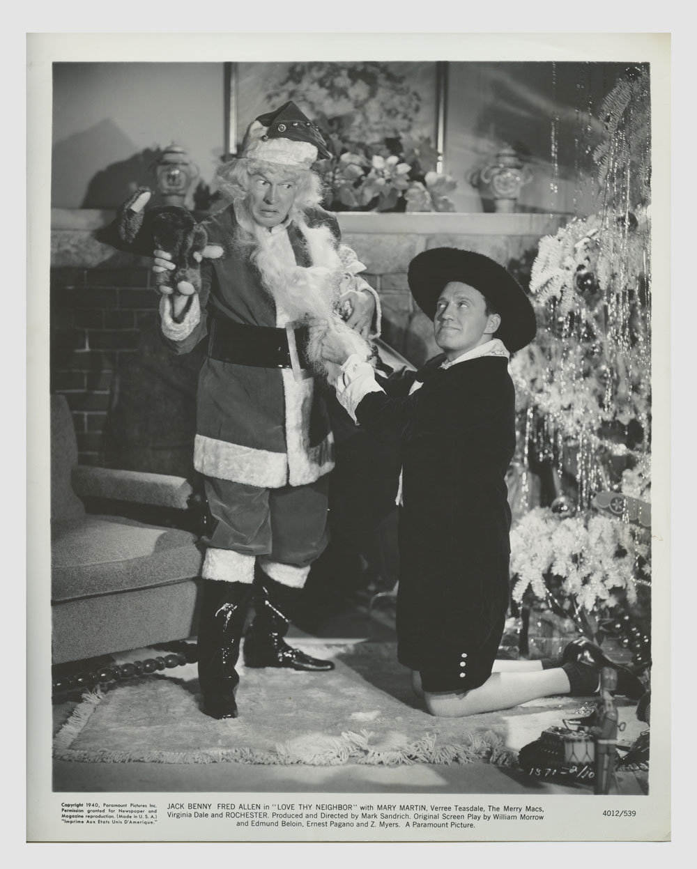 Jack Benny Fred Allen 1940 Love Thy Neighbor Lobby Card 8x10