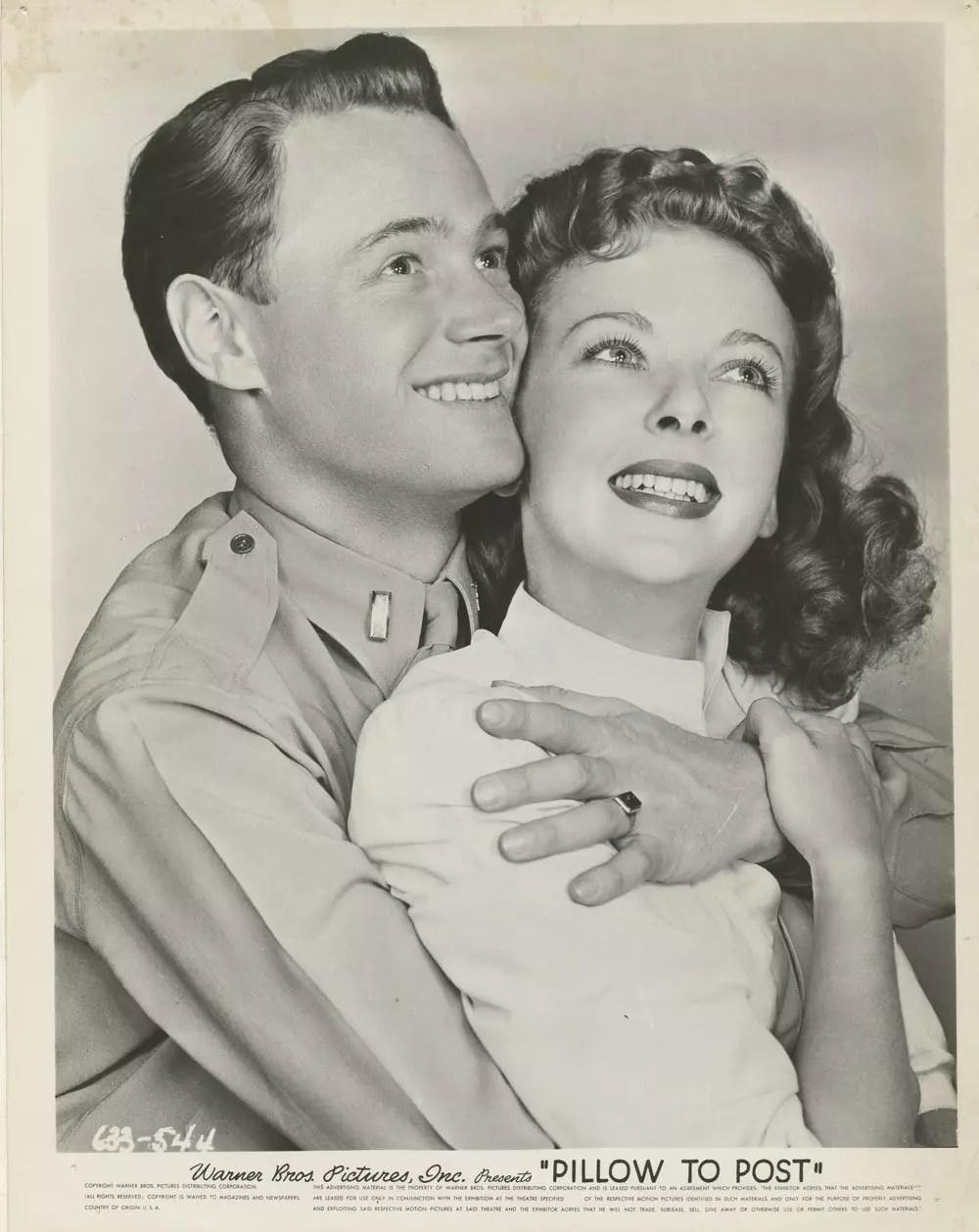 Ida Lupino William Prince 1945 Pillow to Post Lobby Card
