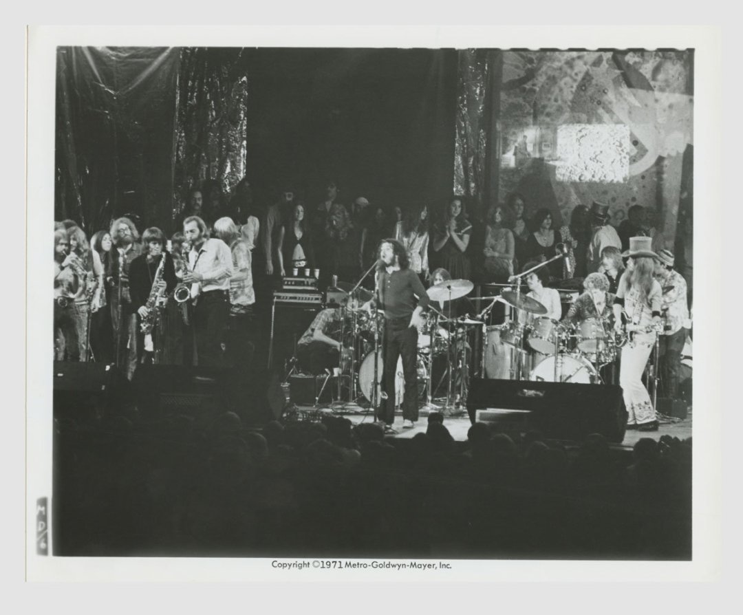 Joe Cocker Leon Russell 1971 Mad Dogs and Englishmen Lobby Card