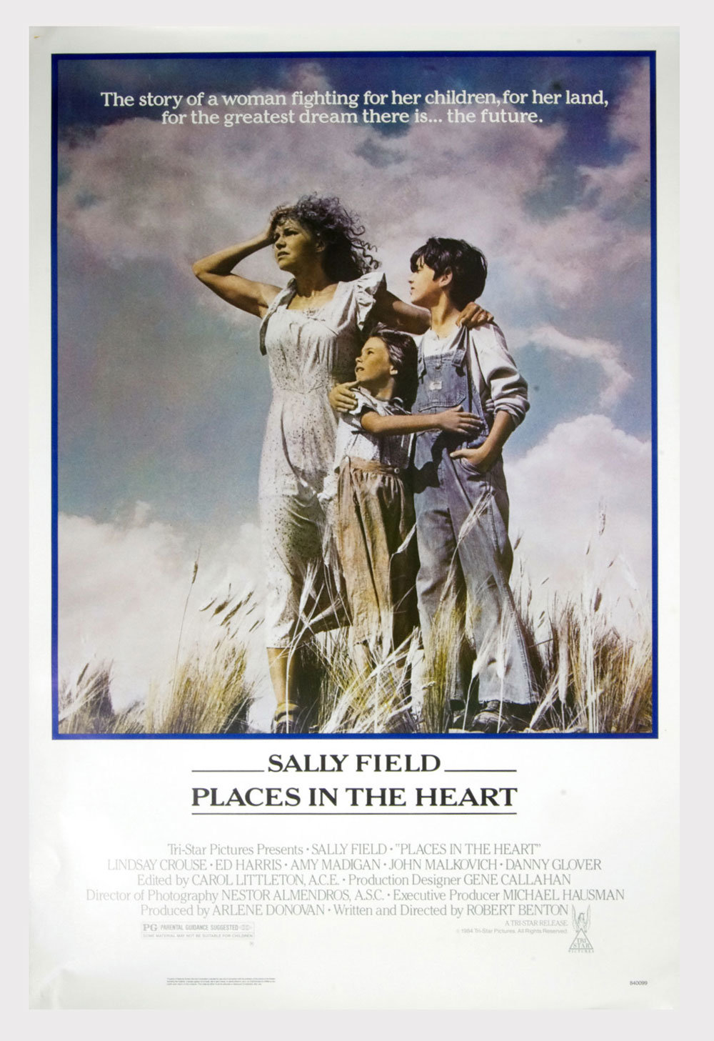 Places In The Heart Poster 1984 Salley Field  27 x 41 1 sheet
