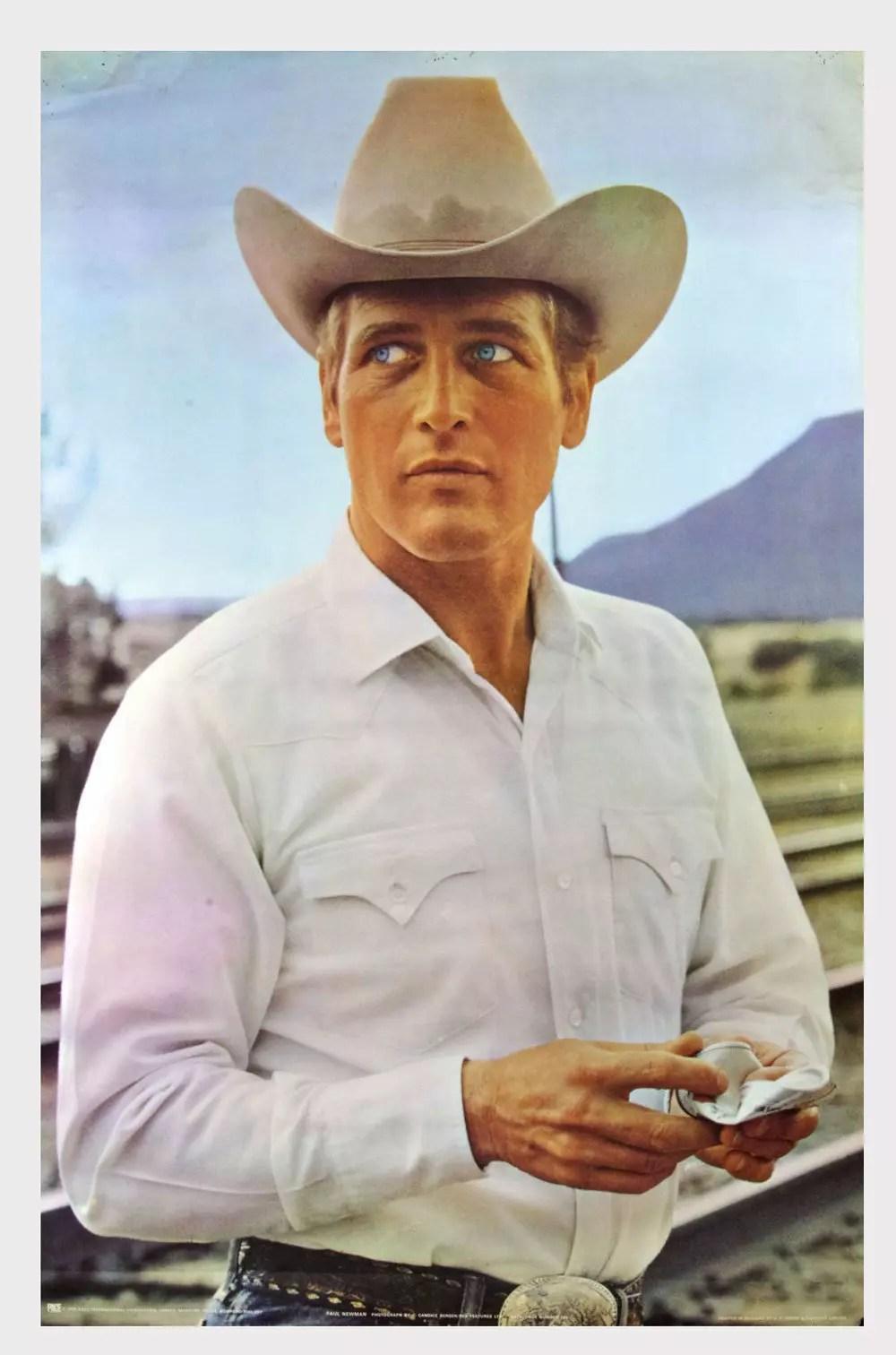 Paul Newman Poster 1972 Photo Candice Bergen 25 x 37 Condition Fine