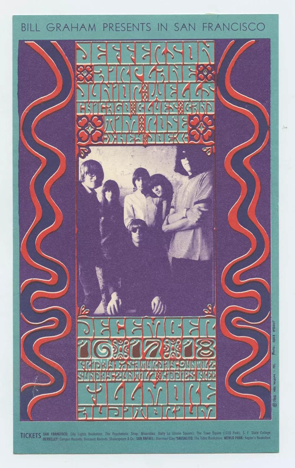 Bill Graham 042 Handbill Very Fine Condition