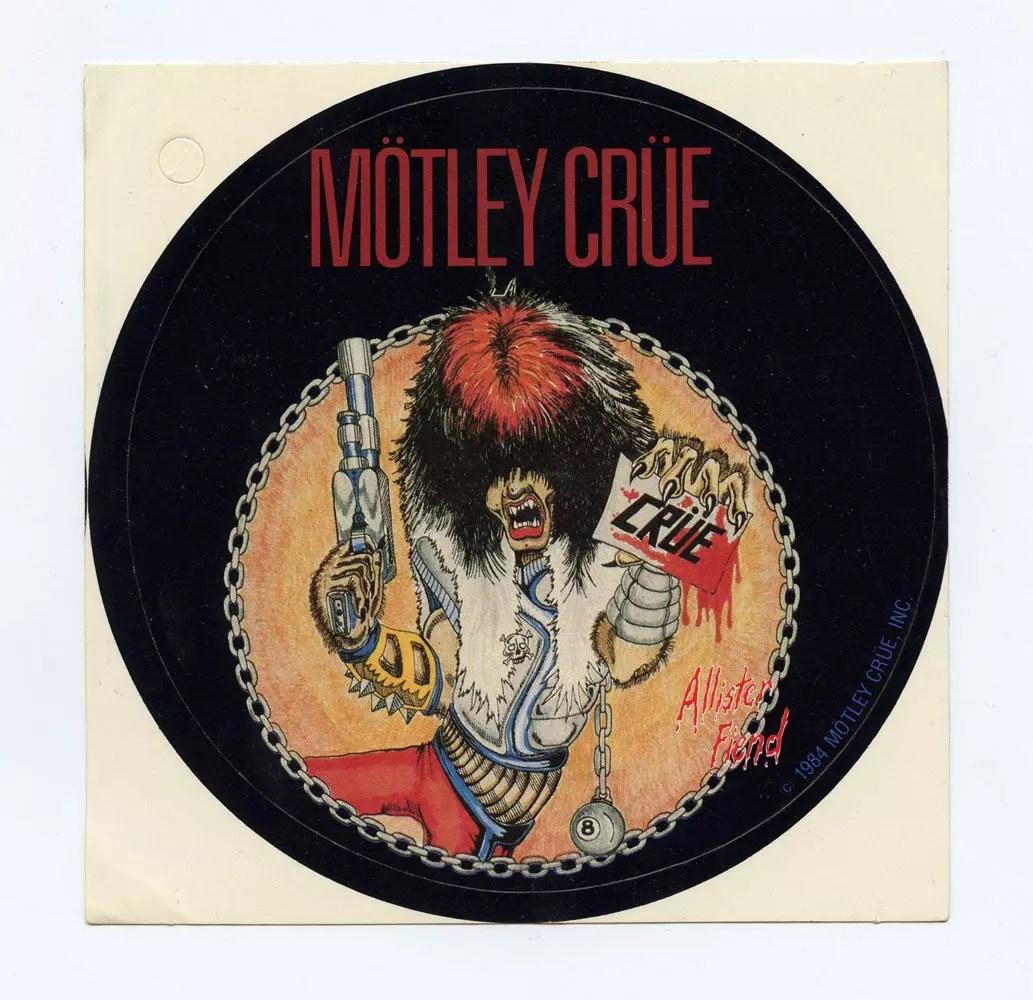 Motley Crue Sticker 1984 Shout At the Devil Album Promo