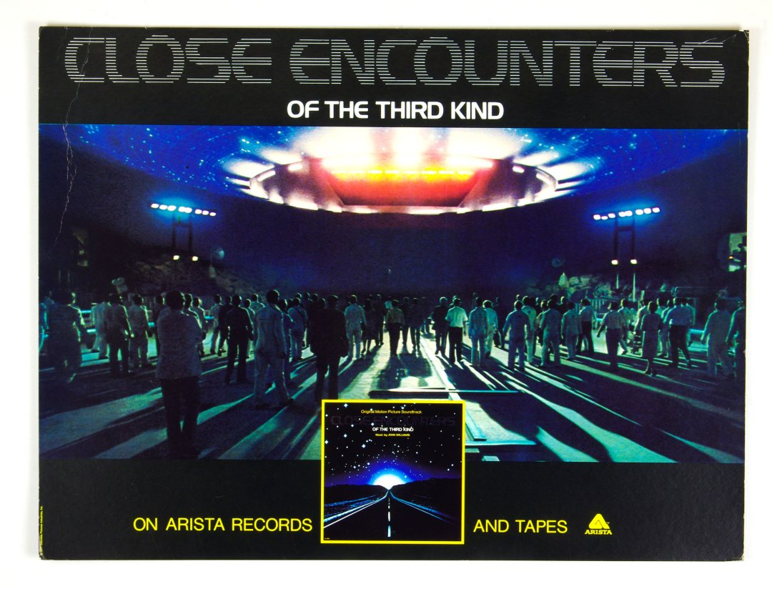 Close Encounters Of The Third Kind Movie Poster 1977 Cardboard Easel Back 22 x 29