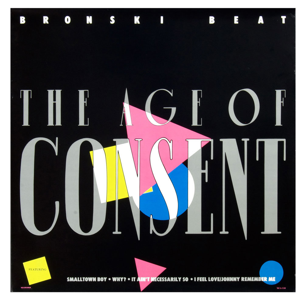 Bronski Beat Poster 1984 The Age of Consent Album Promo 24 x 24