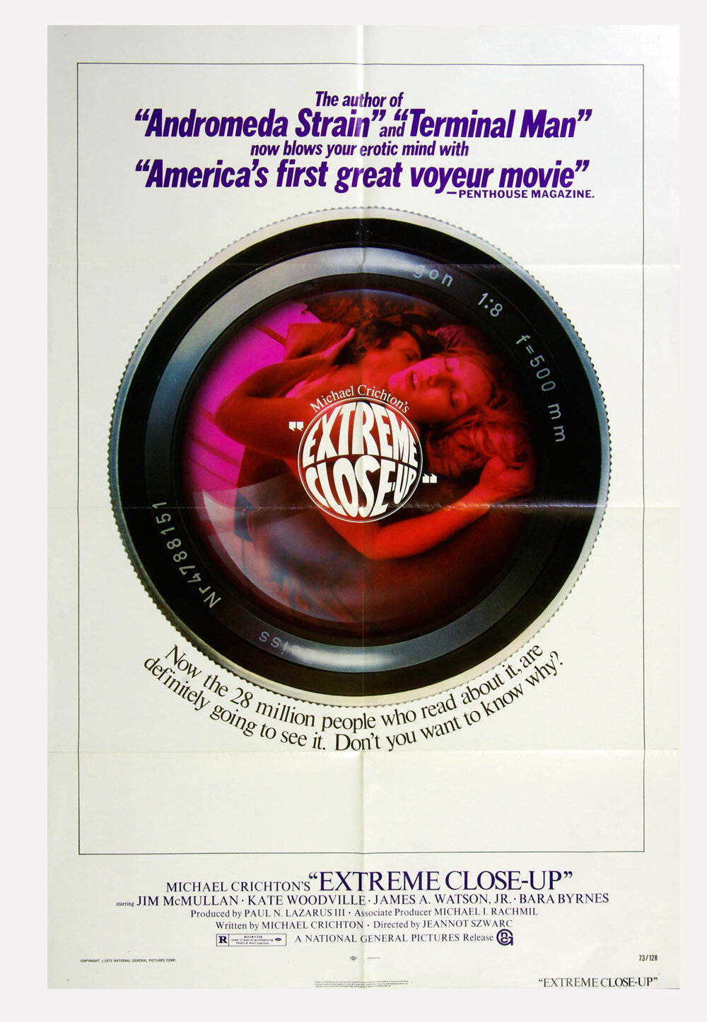 Extreme Close Up Movie Poster 1973 Jim McMullan 27 x 41