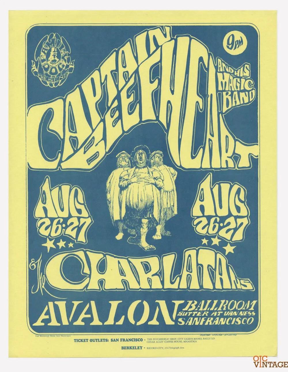 FD 23 Handbill Captain Beefheart 1966 Aug 26 Stanley Muse Alton Kelley