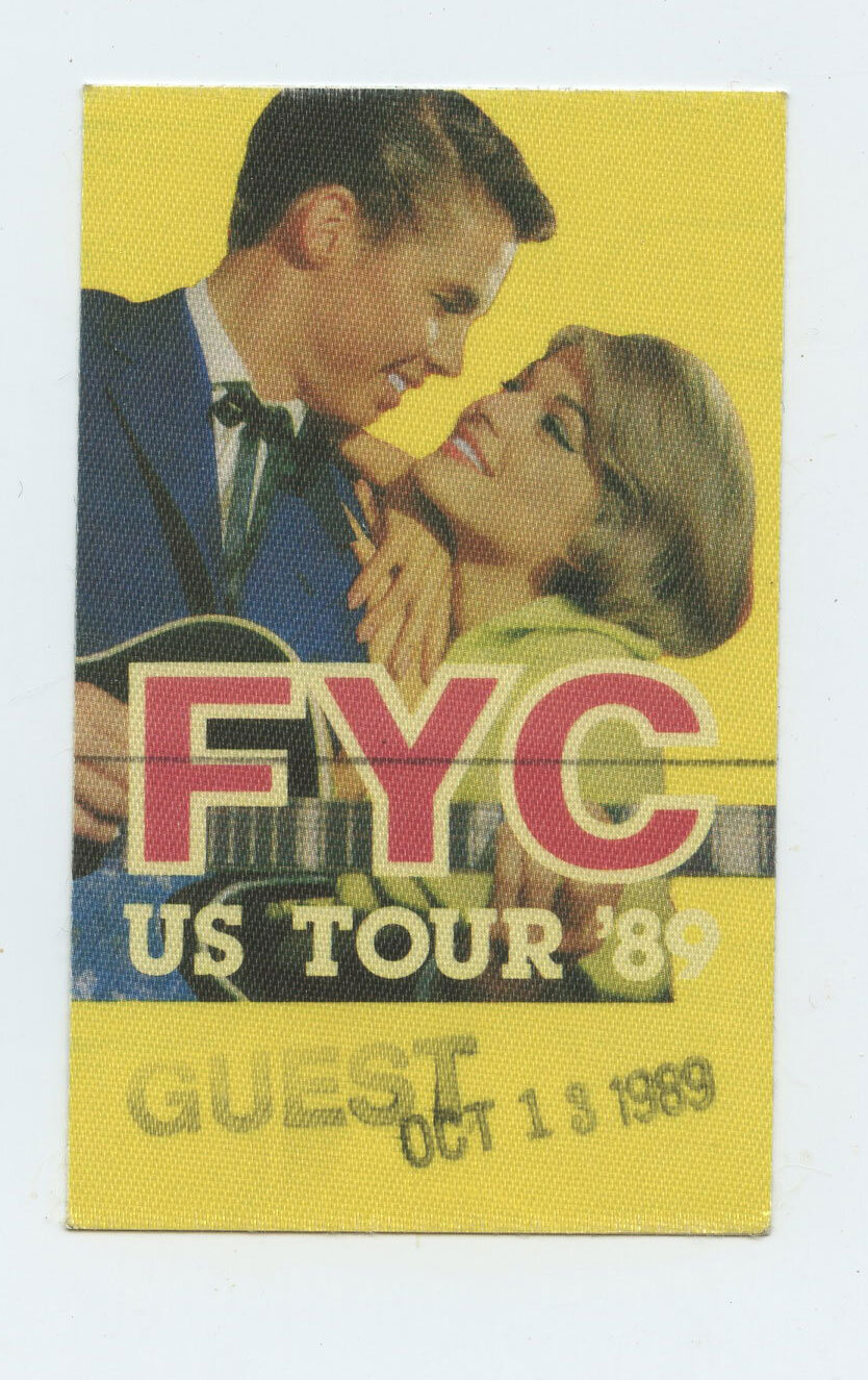 Fine Young Cannibals Backstage Pass 1989 US Tour