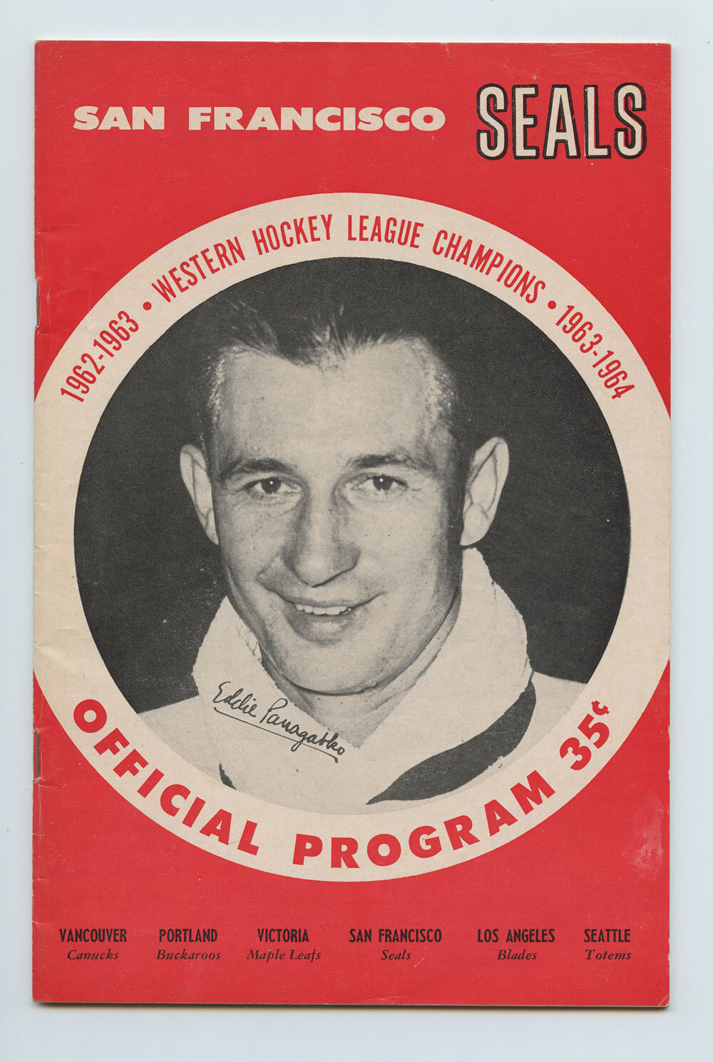 1963 San Francisco Seals Vancouver Blades Program book