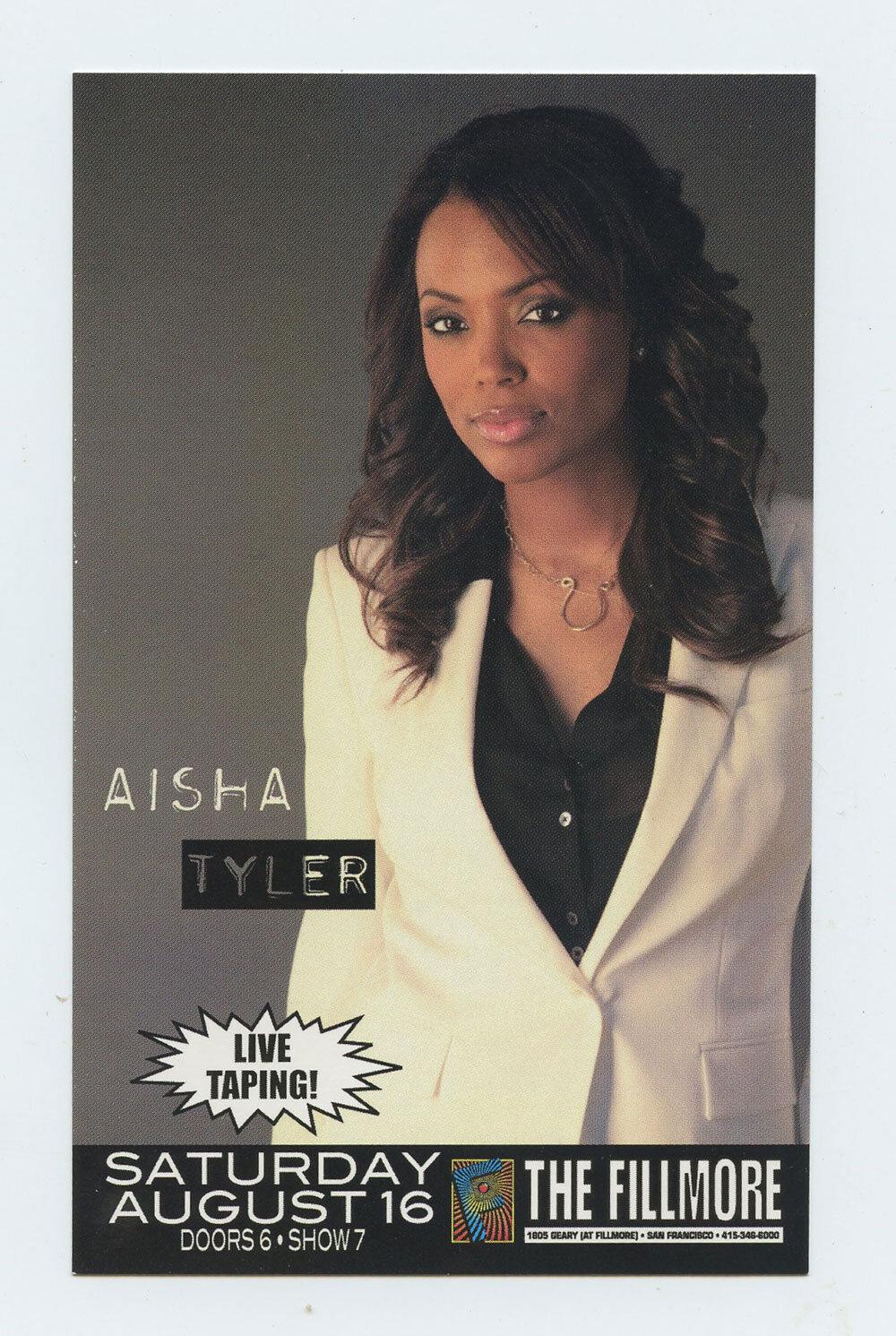 Alisa Tyler Flyer 2008 Aug 16 The Fillmore