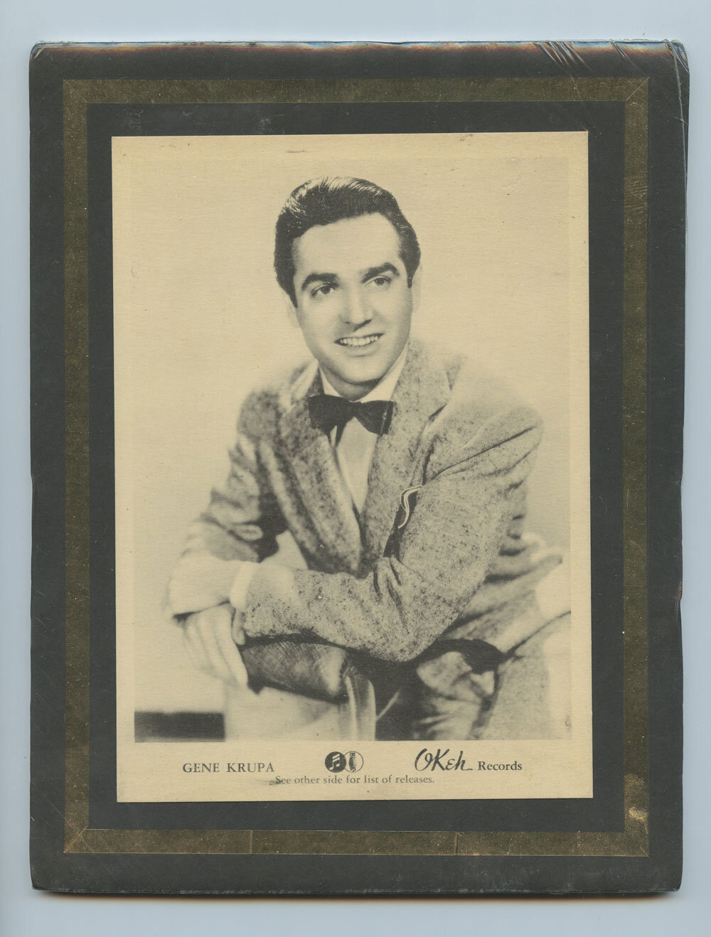 Gene Krupa Photo 1940 New Single Promo OKEH Records