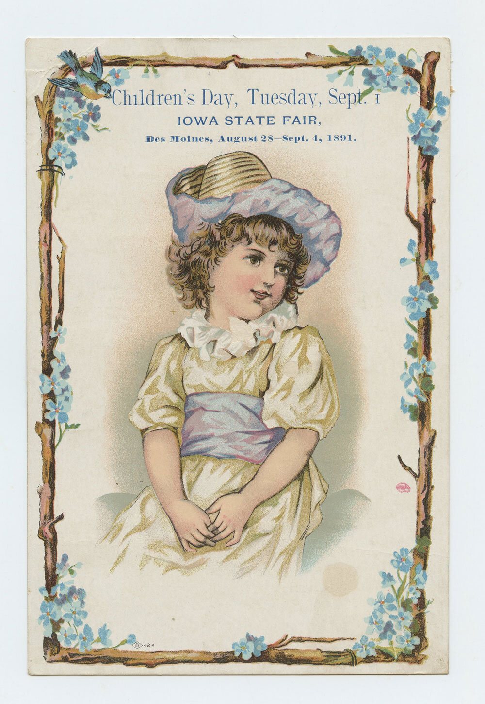 1891 IOWA State Fair Handbill Children's Day