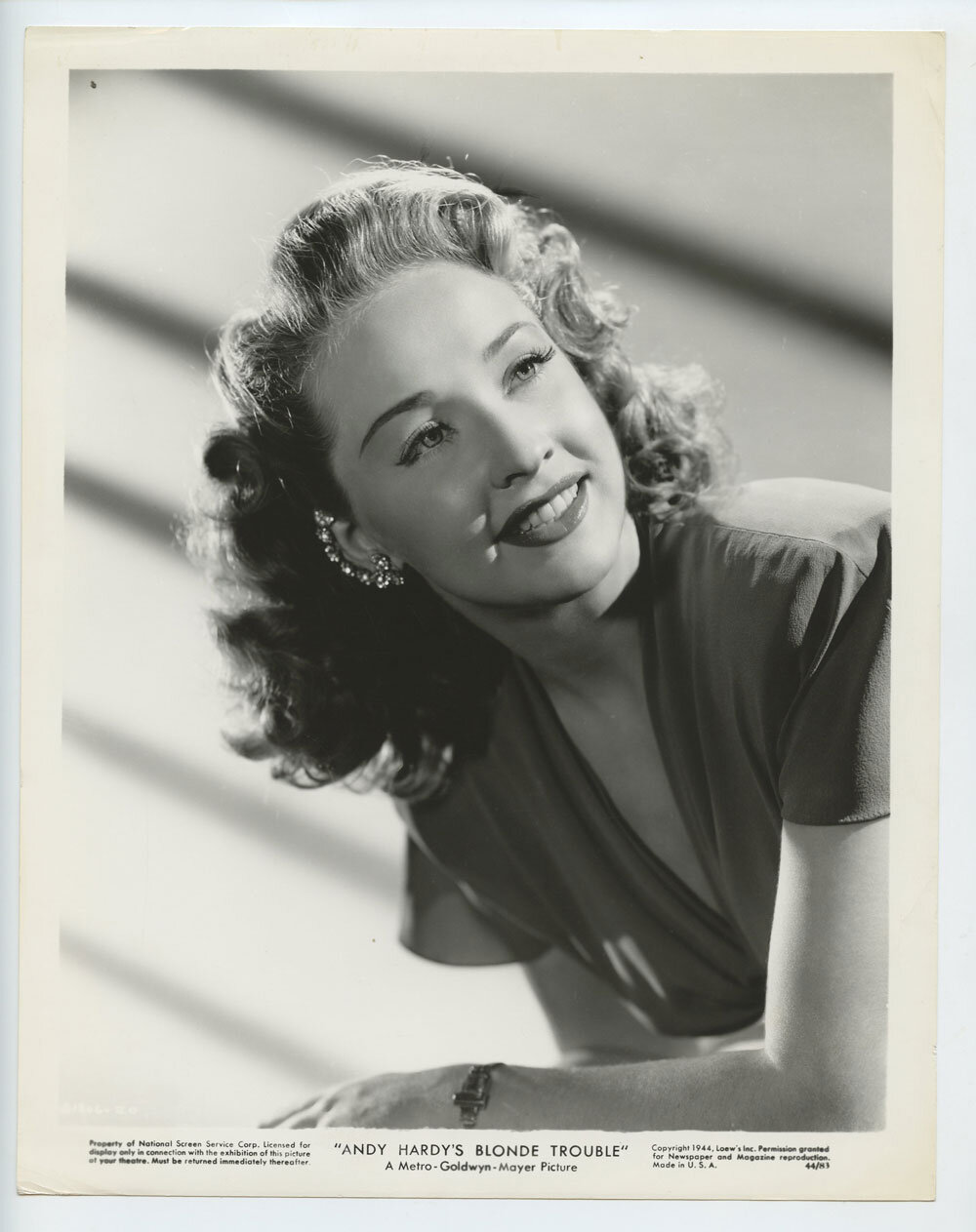 Bonita Granville Photo 1944 Andy Hardy's Blonde Trouble