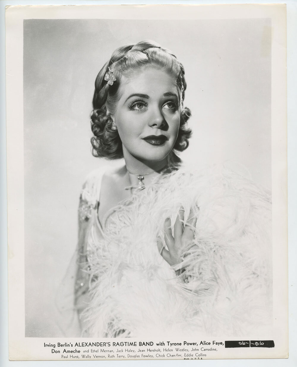 Alice Faye Photo 1938 Alexander's Ragtime Band
