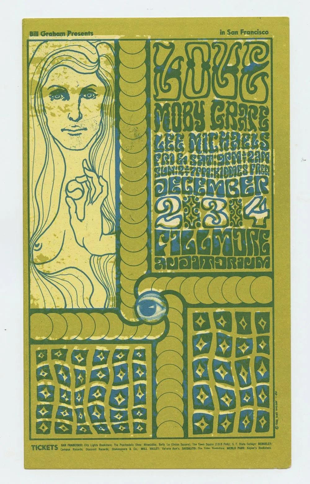 BG 40 Handbill Moby Grape 1966 Dec 24