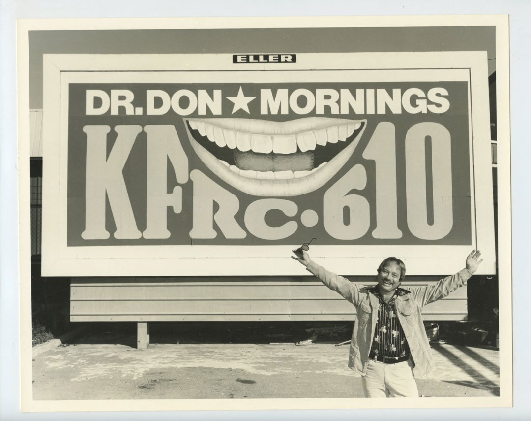 Dr. Don Photo 1970s KFRC Radio Personality Publicity Promo