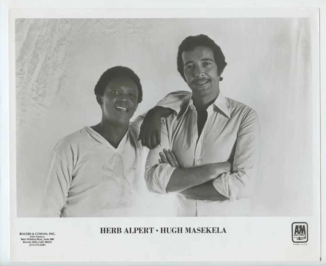 Herb Alpert Hugh Masekela Photo 1978 Publicity Promo A&M Records