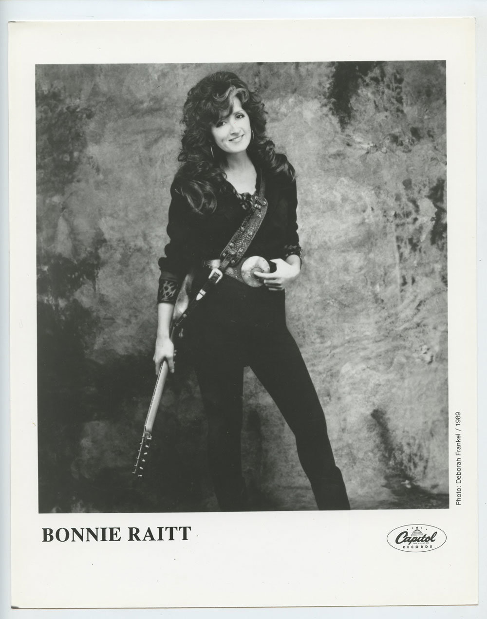 Bonnie Raitt Photo 1989 Publicity Promo Capital Records
