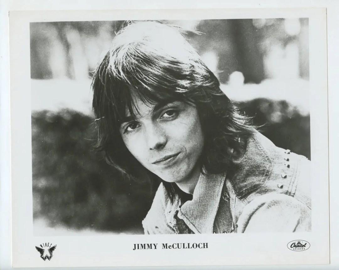 Jimmy McCulloch Photo 1971 Publicity Promo Capital Records