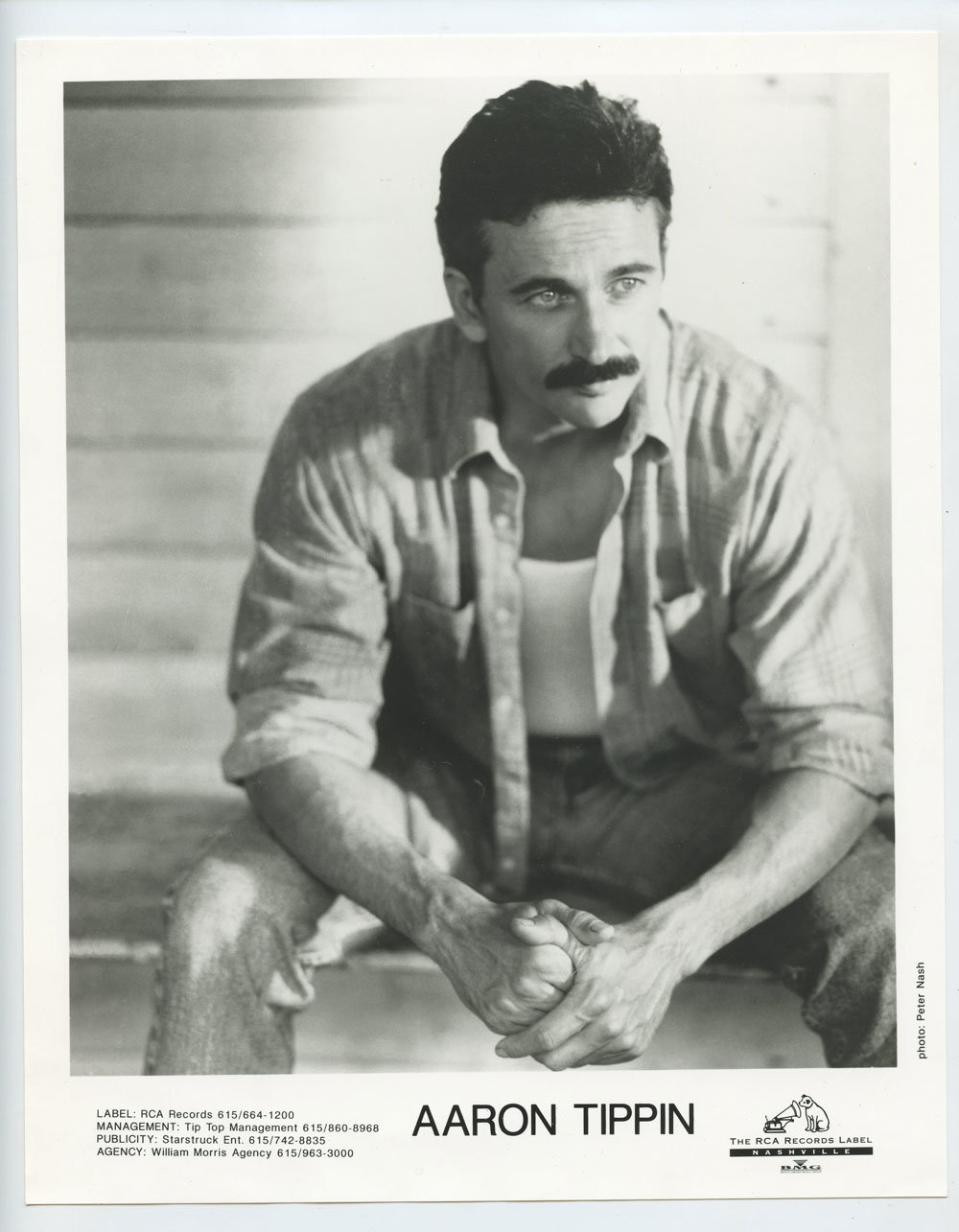 Aaron Tippin Photo 1994 Lookin' Back at Myself Publicity Promo RCA Records